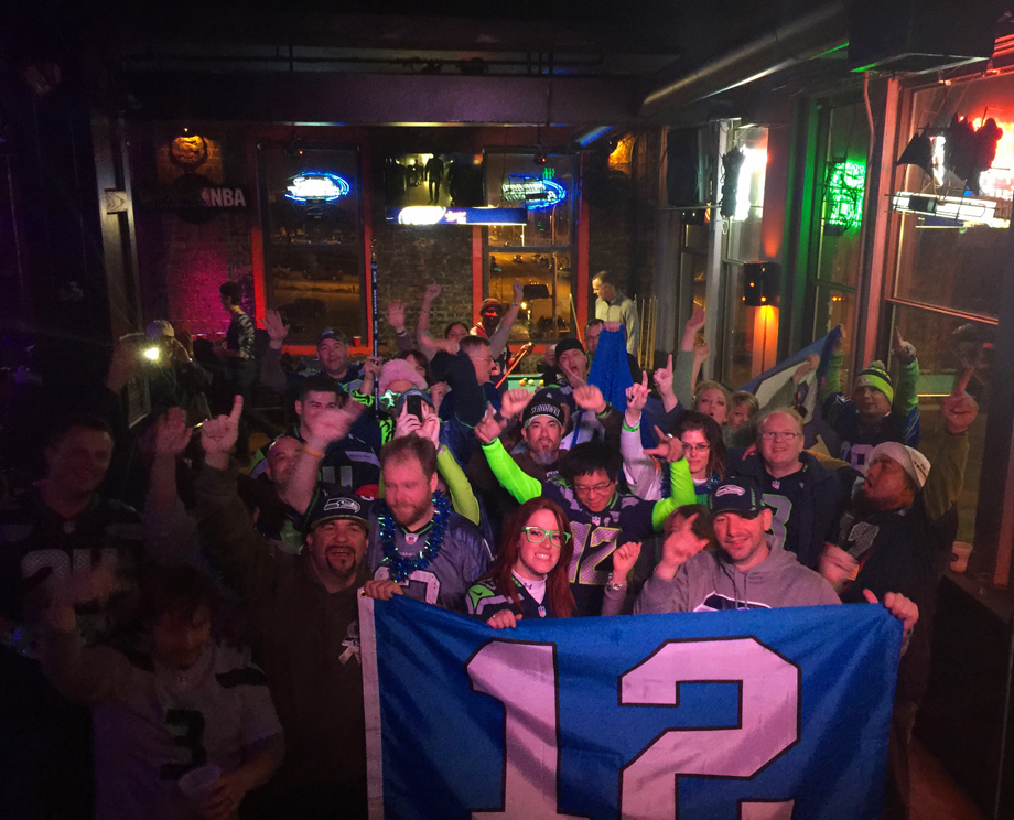 Seahawk faithful getting rowdy at John's Big Deck
